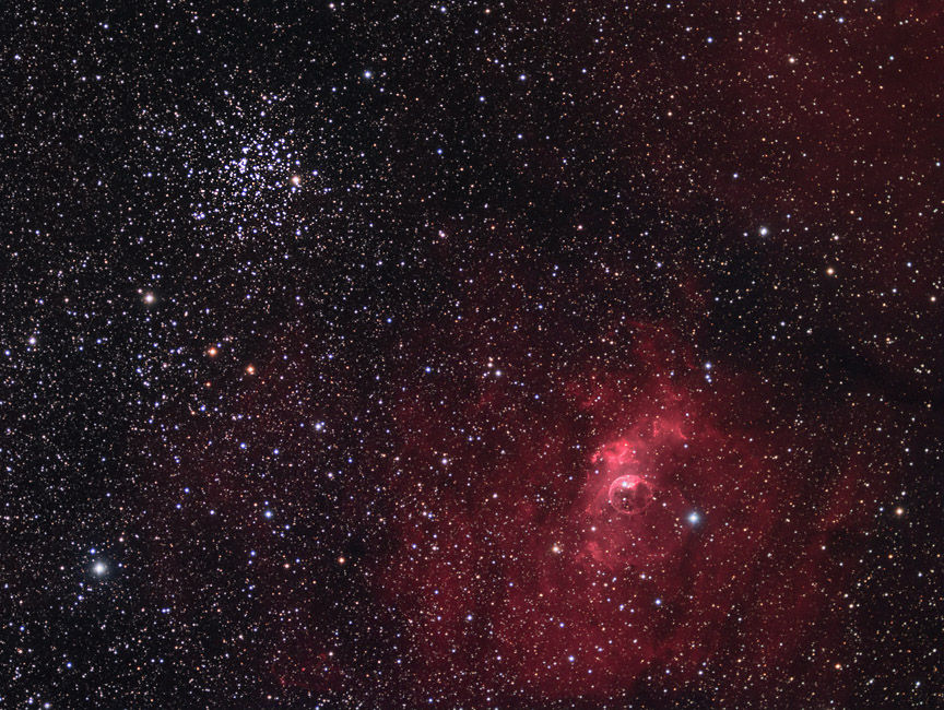 Bubble Nebula & M52