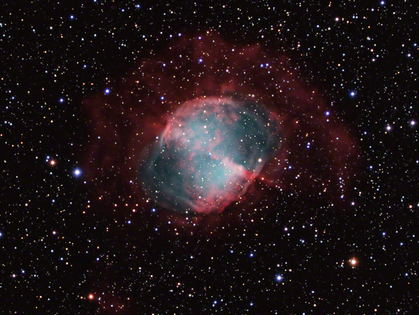 M27 - The Dumbbell Nebula with Outer Regions