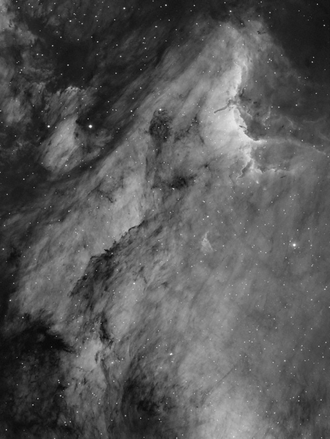 Pelican Nebula in hydrogen-alpha light