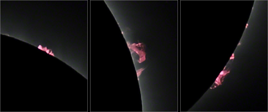Prominences 2017-08-21