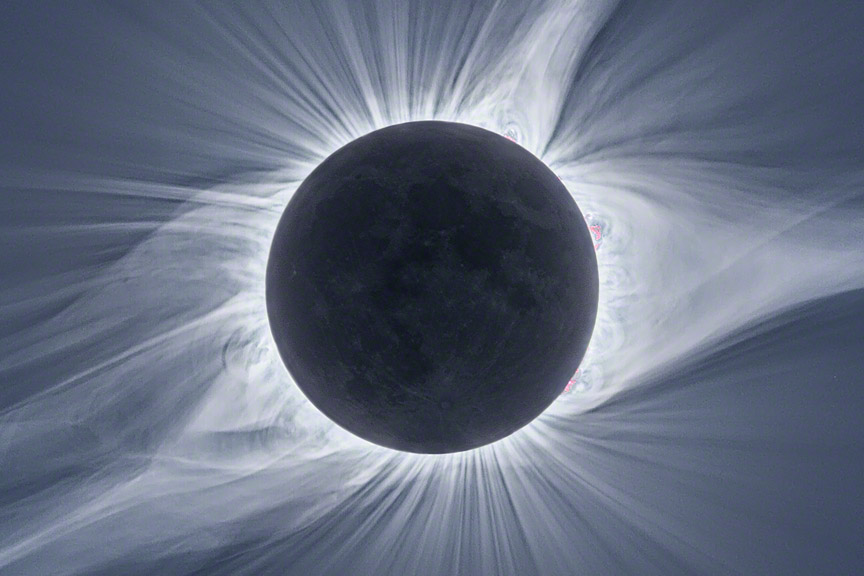 Details of The Corona during the total solar eclipse of 2017-08-21
