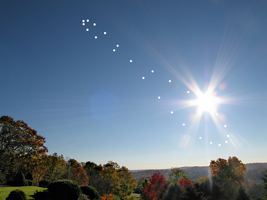 The Analemma with lens flare