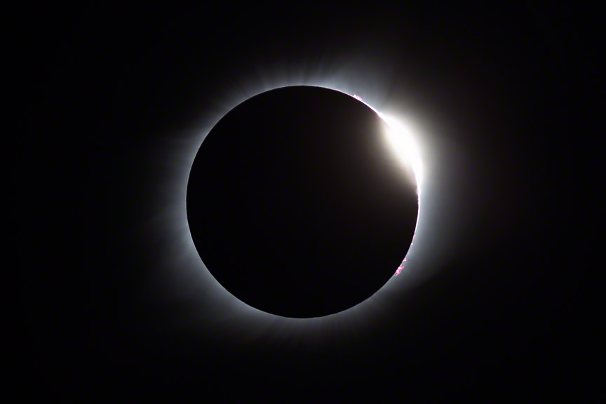 The Diamond Ring at the end of the total solar eclipse of 2017-08-21